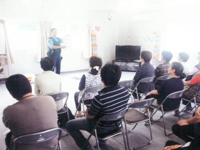 白河警察署復興支援担当署員による防災教室を開催しました