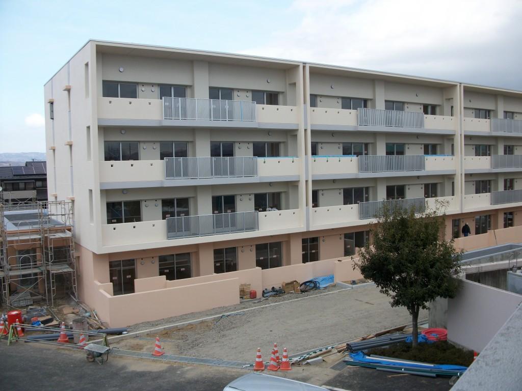 3月20日から入居予定の北信団地20号棟です。